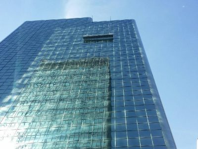 Building maintenance unit. Glass facades